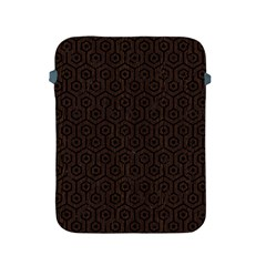 Hexagon1 Black Marble & Dark Brown Wood Apple Ipad 2/3/4 Protective Soft Cases by trendistuff