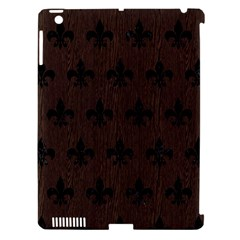 Royal1 Black Marble & Dark Brown Wood (r) Apple Ipad 3/4 Hardshell Case (compatible With Smart Cover) by trendistuff