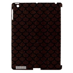 Scales1 Black Marble & Dark Brown Wood Apple Ipad 3/4 Hardshell Case (compatible With Smart Cover) by trendistuff