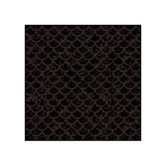 Scales1 Black Marble & Dark Brown Wood (r) Acrylic Tangram Puzzle (4  X 4 ) by trendistuff