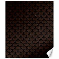 Scales3 Black Marble & Dark Brown Wood Canvas 20  X 24   by trendistuff