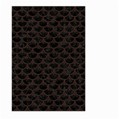 Scales3 Black Marble & Dark Brown Wood (r) Large Garden Flag (two Sides) by trendistuff
