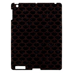 Scales3 Black Marble & Dark Brown Wood (r) Apple Ipad 3/4 Hardshell Case by trendistuff