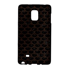 Scales3 Black Marble & Dark Brown Wood (r) Galaxy Note Edge by trendistuff