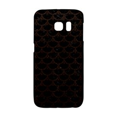 Scales3 Black Marble & Dark Brown Wood (r) Galaxy S6 Edge by trendistuff