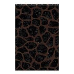 Skin1 Black Marble & Dark Brown Wood Shower Curtain 48  X 72  (small)  by trendistuff