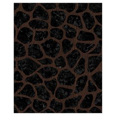 Skin1 Black Marble & Dark Brown Wood Drawstring Bag (small) by trendistuff