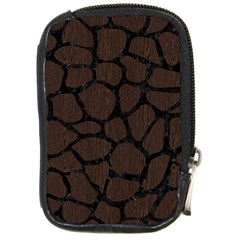Skin1 Black Marble & Dark Brown Wood (r) Compact Camera Cases by trendistuff