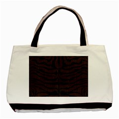 Skin2 Black Marble & Dark Brown Wood Basic Tote Bag by trendistuff