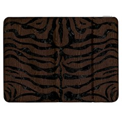 Skin2 Black Marble & Dark Brown Wood Samsung Galaxy Tab 7  P1000 Flip Case by trendistuff