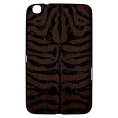 Skin2 Black Marble & Dark Brown Wood Samsung Galaxy Tab 3 (8 ) T3100 Hardshell Case  by trendistuff