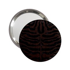 Skin2 Black Marble & Dark Brown Wood (r) 2 25  Handbag Mirrors by trendistuff