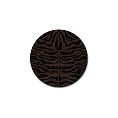 Skin2 Black Marble & Dark Brown Wood (r) Golf Ball Marker by trendistuff