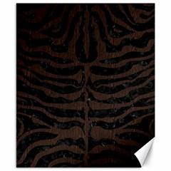 Skin2 Black Marble & Dark Brown Wood (r) Canvas 8  X 10  by trendistuff