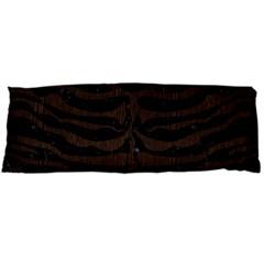 Skin2 Black Marble & Dark Brown Wood (r) Body Pillow Case (dakimakura)
