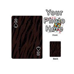 Skin3 Black Marble & Dark Brown Wood Playing Cards 54 (mini)  by trendistuff