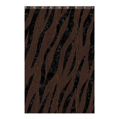 Skin3 Black Marble & Dark Brown Wood Shower Curtain 48  X 72  (small)  by trendistuff
