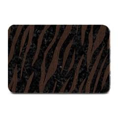 Skin3 Black Marble & Dark Brown Wood (r) Plate Mats by trendistuff