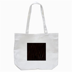 Skin4 Black Marble & Dark Brown Wood Tote Bag (white) by trendistuff