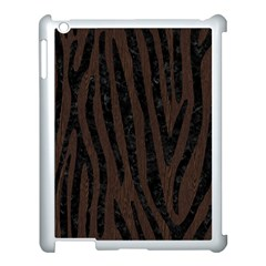 Skin4 Black Marble & Dark Brown Wood (r) Apple Ipad 3/4 Case (white)