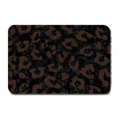 Skin5 Black Marble & Dark Brown Wood Plate Mats by trendistuff