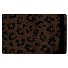 Skin5 Black Marble & Dark Brown Wood (r) Apple Ipad 2 Flip Case by trendistuff