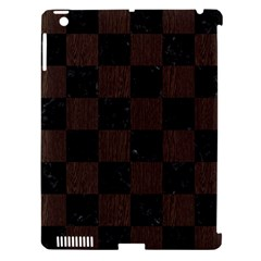 Square1 Black Marble & Dark Brown Wood Apple Ipad 3/4 Hardshell Case (compatible With Smart Cover) by trendistuff