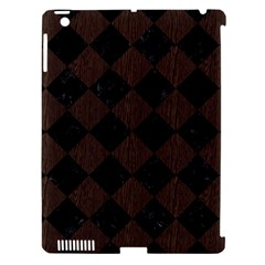 Square2 Black Marble & Dark Brown Wood Apple Ipad 3/4 Hardshell Case (compatible With Smart Cover) by trendistuff