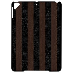 Stripes1 Black Marble & Dark Brown Wood Apple Ipad Pro 9 7   Hardshell Case by trendistuff