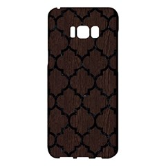 Tile1 Black Marble & Dark Brown Wood Samsung Galaxy S8 Plus Hardshell Case  by trendistuff
