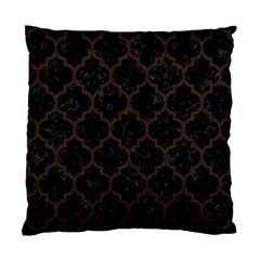 Tile1 Black Marble & Dark Brown Wood (r) Standard Cushion Case (one Side) by trendistuff