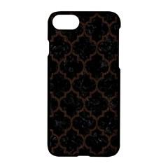 Tile1 Black Marble & Dark Brown Wood (r) Apple Iphone 8 Hardshell Case
