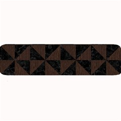 Triangle1 Black Marble & Dark Brown Wood Large Bar Mats by trendistuff