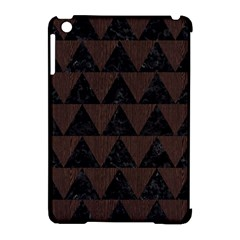 Triangle2 Black Marble & Dark Brown Wood Apple Ipad Mini Hardshell Case (compatible With Smart Cover) by trendistuff