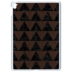 Triangle2 Black Marble & Dark Brown Wood Apple Ipad Pro 9 7   White Seamless Case by trendistuff