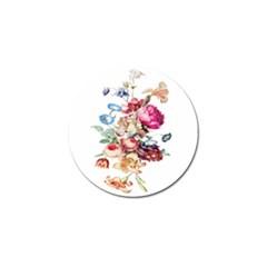 Fleur Vintage Floral Painting Golf Ball Marker by Celenk