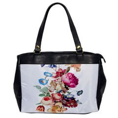 Fleur Vintage Floral Painting Office Handbags by Celenk
