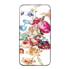 Fleur Vintage Floral Painting Apple Iphone 4/4s Seamless Case (black) by Celenk