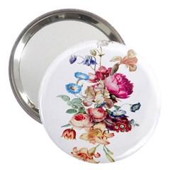 Fleur Vintage Floral Painting 3  Handbag Mirrors by Celenk