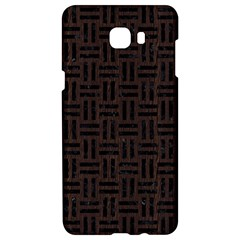 Woven1 Black Marble & Dark Brown Wood Samsung C9 Pro Hardshell Case  by trendistuff