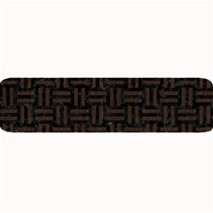 Woven1 Black Marble & Dark Brown Wood (r) Large Bar Mats by trendistuff