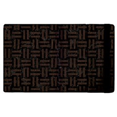 Woven1 Black Marble & Dark Brown Wood (r) Apple Ipad 3/4 Flip Case by trendistuff