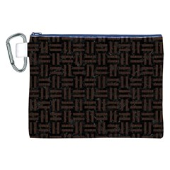 Woven1 Black Marble & Dark Brown Wood (r) Canvas Cosmetic Bag (xxl) by trendistuff