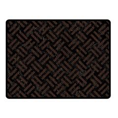 Woven2 Black Marble & Dark Brown Wood (r) Fleece Blanket (small)