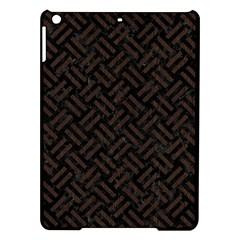 Woven2 Black Marble & Dark Brown Wood (r) Ipad Air Hardshell Cases by trendistuff