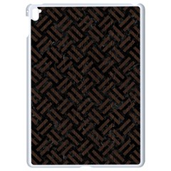 Woven2 Black Marble & Dark Brown Wood (r) Apple Ipad Pro 9 7   White Seamless Case by trendistuff