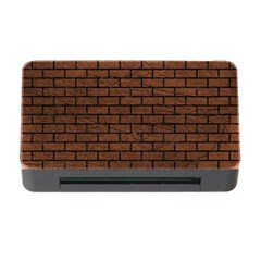 Brick1 Black Marble & Dull Brown Leather Memory Card Reader With Cf by trendistuff