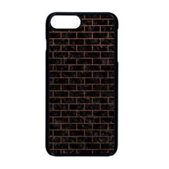 Brick1 Black Marble & Dull Brown Leather (r) Apple Iphone 8 Plus Seamless Case (black)