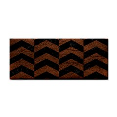 Chevron2 Black Marble & Dull Brown Leather Cosmetic Storage Cases by trendistuff