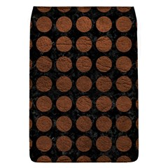 Circles1 Black Marble & Dull Brown Leather (r) Flap Covers (l)  by trendistuff